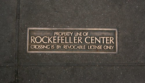 Property Line of Rockefeller Center