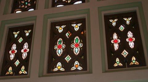 Bangalore Palace Original Stained Glass Panels