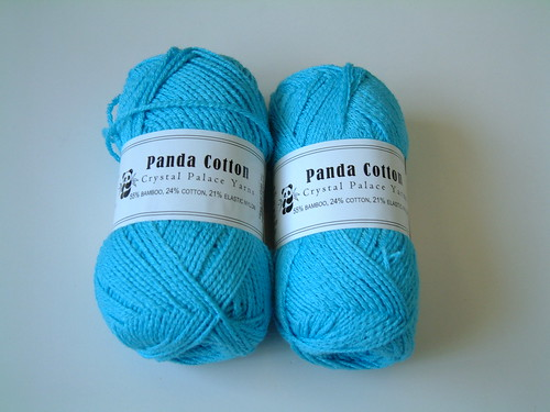 Panda Cotton- Carib Blue