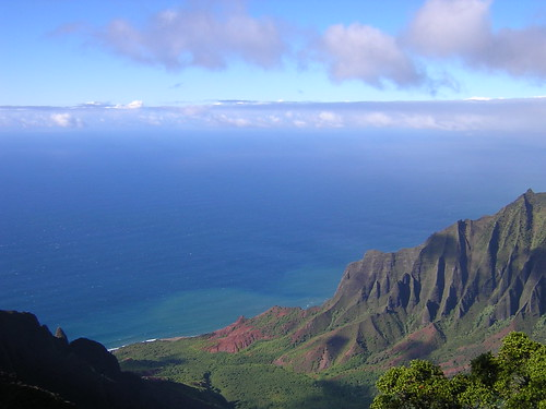 Kalalau Valley Lookout in Kokee State Park