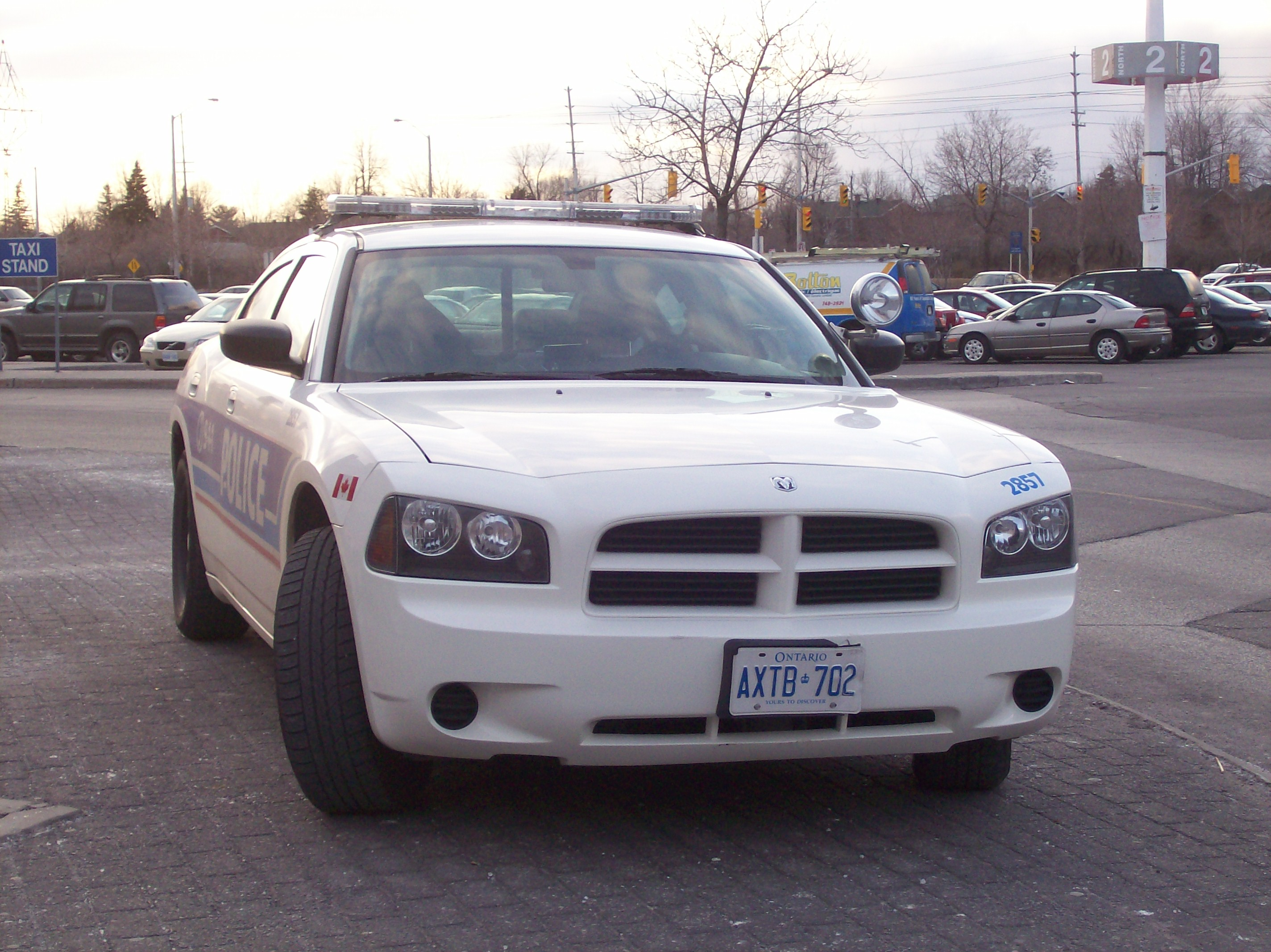 An Ottawa Police Dodge Charger patrol car.