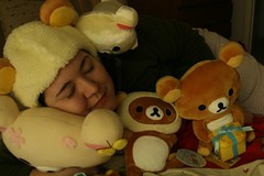 59.365 Rilakkuma (vyxle) Tags: bear me girl self toy snuggle toys japanese crazy bears bodylanguage plush explore sleepy stuffedanimals 365 wacky snuggles plushy snuggly rilakkuma sanx relaxbear nutball 365days rilakuma explore330 whackdoodle weirdointhebedroom