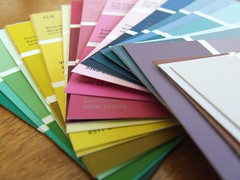Paint chip cards by Andrea_R, on Flickr