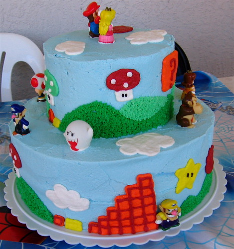 Super Mario Birthday Cake 3