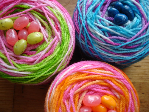 Colorful Yarn Cakes