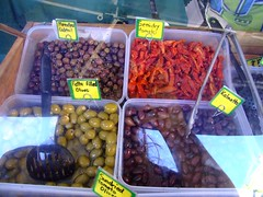 Olives and Sundried Tomatos from Razor Back Olive Grove at Wollongong Friday Produce Market