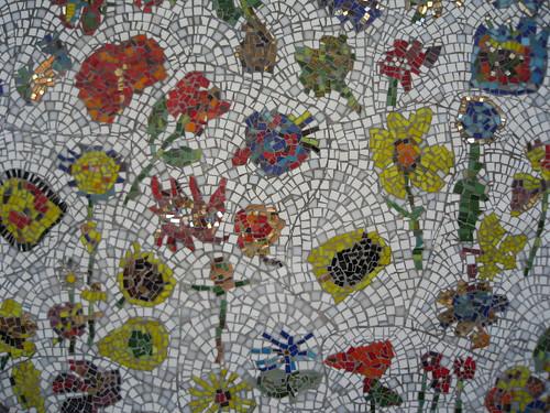 Public Mosaic Art Columbia Road Flower Market London