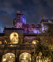 Tower of Terror (Stuck in Customs) Tags: pink blue tree tower castle love architecture photography lights design orlando ancient nikon colours photographer purple dream disney romance structure fave disneyworld terror adventures comfort stories decor mgm coolest civilisation hdr mgmstudios aladin towerofterror highquality hollywoodtowerofterror stuckincustoms treyratcliff focuspocus2 millenuitetnuit