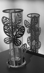 Shadow on the Wall (labels_30) Tags: shadow blackandwhite butterfly candleholder shadowonthewall msh0407 labels30 butterflyshadow msh040717 butterflycandleholder tbgc51