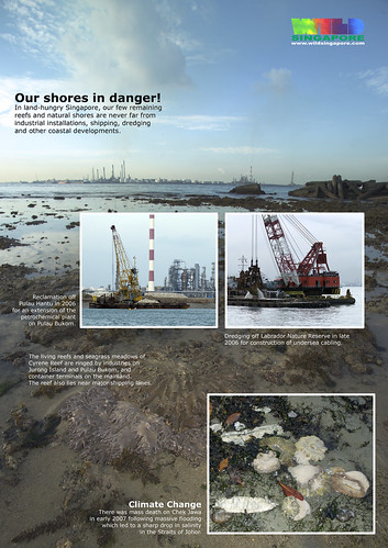 A4 Poster: Threats to our shores - Coastal Development and Global Warming