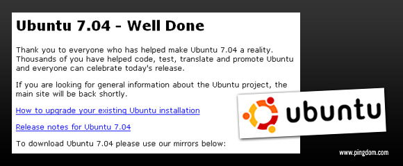 Ubuntu.com, the light version...