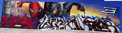 rifle werk and augs (Chele In LA) Tags: street blue red sky urban streetart art graffiti spider losangeles paint graf rifle spiderman billboard spidey graff aug werk cbs augs augor cheleinla graffitihunters