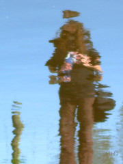 Photographer Ripple (M@rty's Photos) Tags: portrait reflection water photographer ripple delft hut marty