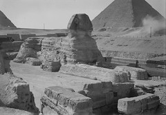 No Known Restrictions: Public Domain: Egypt: Sphinx & pyramids from Matson Collection, ca. 1934-39 (LOC) - by pingnews.com