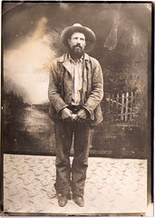 vintage cowboy: arizona outlaw (deflam) Tags: old arizona vintage cowboy victorian retro criminal western mugshot veins familyphotos wildwest edwardian outlaw olden oldwest