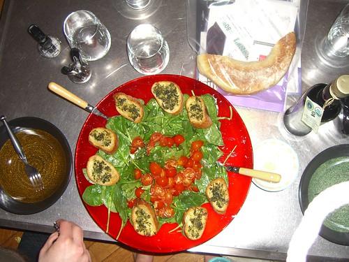 Warm tomate vinagrette recipe
