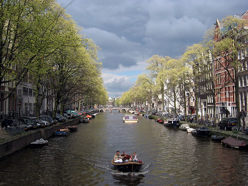 Amsterdam, Herengracht, spring by docman.