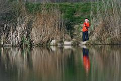 Boy Fisherman (WY Man) Tags: boy orange lake fish cute water reflections kid spring fishing fisherman pond rod reel fishingfavorites
