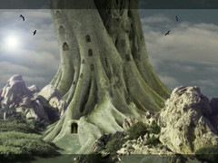 TREE KINGDOM PALACE (antmaris261060) Tags: artlibre zen trees tree tower tao stone sky scifi rocks rock rocce paesaggi nuvole movies moon luna landscape inverno graniti fantasy door colours colors colori colore color clouds castle castello animals animali alberi tolkien aplusphoto superaplus thesecretlifeoftrees