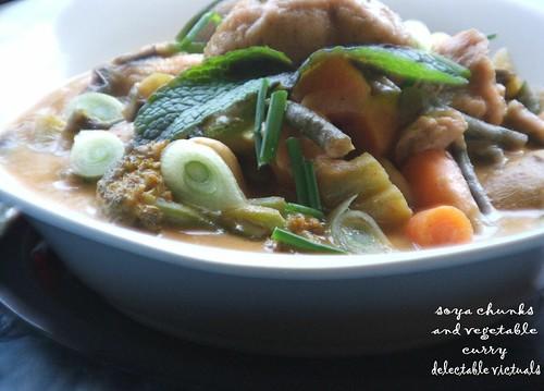 easy recipe vegetarian curry indian soya chunks soy nutrela
