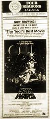 Four Seasons Cinema Star Wars Newspaper Ad (Neato Coolville) Tags: starwars theater theatre lakeoftheozarks moviead lakeozark lodgeofthefourseasons fourseasonscinema