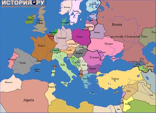 Europe Map 1930 Casami