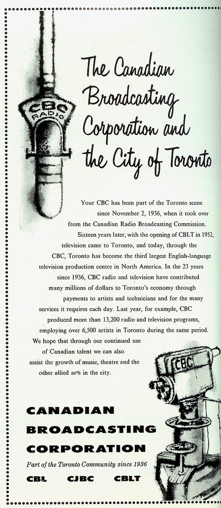 Vintage Ad #232 - The CBC and Toronto