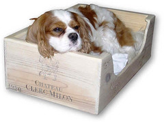 Wine Crate Dog Bed
