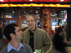 Simon Bates and David Bolter in Times Square, NY