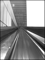 Take a line (Arslan) Tags: bw paris building architecture geometry escalator nb bnf bibliothquenationaledefrance tolbiac bibliothequenationaledefrance 123bw