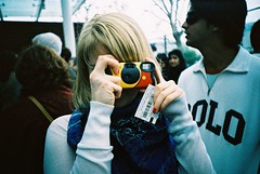 Shooting Me, Shooting You (edscoble) Tags: camera london eye film tourism girl lomo lca xpro lomography xprocess little kodak sister crossprocess katherine slide ticket tourist elite soviet scoble instant tungsten russian ektachrome e6 pathetic automat disposable 160 londonist kompakt 160t