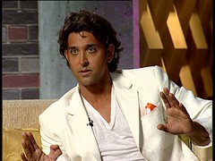 Hrithik Roshan on Koffee with Karan (Indari) Tags: cinema looking good indian handsome greeneyes suit curly bollywood actor hindi roshan whitesuit karan hrithik johar koffeewithkaran