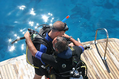 Buddy Checks (David A Mckee) Tags: rescue water look boat check tank dive scuba buddy safety help pre cylinder padi information wetsuit bcd advanced openwater regulators divemaster compensator