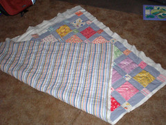 Feedsack quilt - front and back