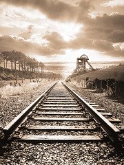 collierymontage (frazerweb) Tags: fiction tower photoshop landscape artwork mine railway pit line fantasy montage end winding colliery headgear industrail montages