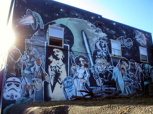 Found on Flickr: Check out this Star Wars mural on the side of a tattoo shop