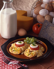 Mexican Breakfast (fhansenphoto) Tags: cheese breakfast eggs burritos