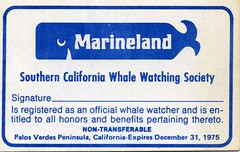 Marineland Whale Watching card