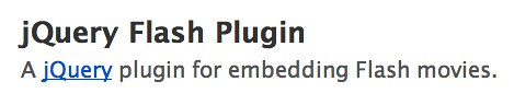 jQuery flash plugin