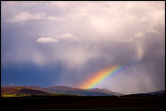 Scotland's For Me! (chimpaction) Tags: clouds d50 scotland rainbow nikon aberdeenshire howe bennachie alford hailstones mithertap