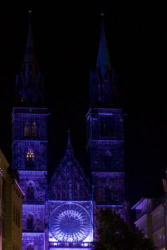 Blaue Nacht Nürnberg - Lorenzkirche