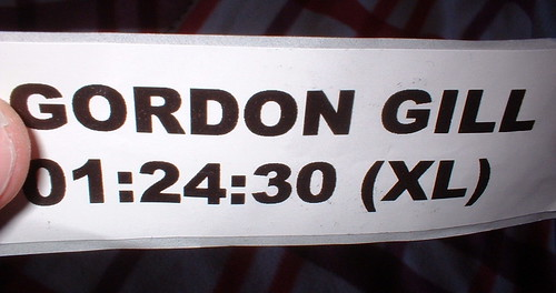 My race printout - who is Gordon???