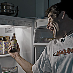 Hooray Beer (Poppa-D) Tags: arizona portrait selfportrait kitchen beer darren self nikon d pad az stevenson poppa poppad sb800 strobist