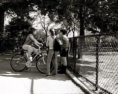L1013702.JPG (Susan NYC) Tags: park street nyc girls bicycle playground kids children manhattan parks teenagers washingtonheights latespring bennettpark nycparks