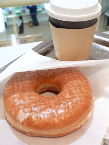 doughnut and a cup of coffee