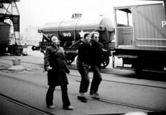 Train (Jigsaw James) Tags: bristol blackwhite harbourside