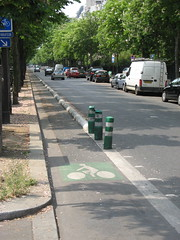 Paris bike lane (brunoboris) Tags: paris bikelane voiebicyclette 16emearrondisement