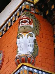 A lion pillar