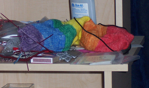 Unfinished Objects: Rainbow Extreme-2-in-1 Socks
