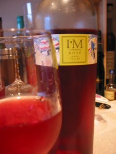 A bottle of I'M Rosé